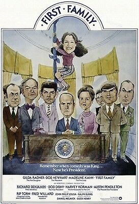 First Family Original Rolled 27X41 Movie Poster 1980 Bob Newhart