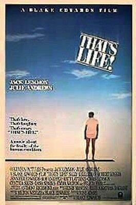 That's Life Original Rolled 27X41 Movie Poster 1986 Jack Lemmon
