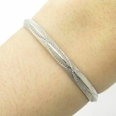 """Old Pawn 925 Sterling Silver Handmade Baby Cuff Bracelet 5"""""""