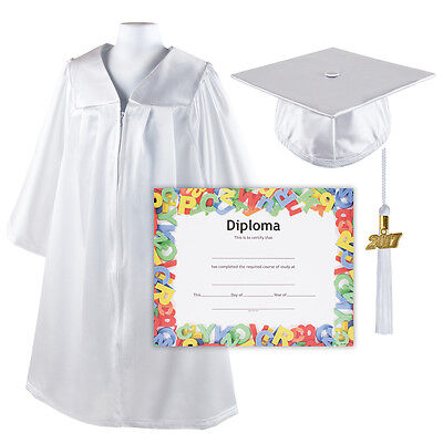 Kindergrad Shiny Kindergarten Graduation Cap and Gown with Matching 2017 Tassel