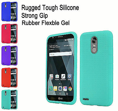 For LG Stylo 3 Stylo 3 Plus Rugged Rubber Slim Gel Soft Silicone Skin Cover Case
