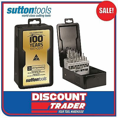 Sutton Tools 14 Piece HSS Tap & Drill 100 Year Anniversary Set - T385S100
