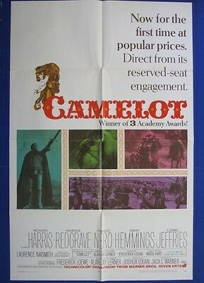 Camelot Original 27X41 One Sheet Movie Poster 1968 Richard Harris