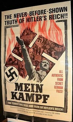 Mein Kampf Original Movie Poster 1961 Rise And Fall Of Hitler's Reich German