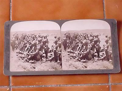BOER WAR STEREOVIEW CARD by Underwood - THE SAD ROLL CALL at DORDRECHT!