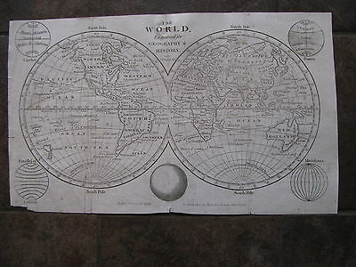 1808 ORIGINAL Map of the World