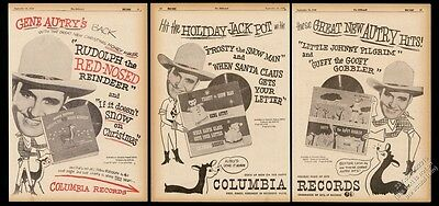 1950 Gene Autry photo Rudolph the Red-Nosed Reindeer song release trade print ad