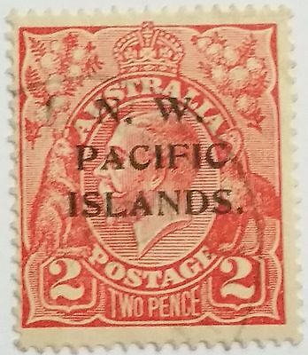 N.w Pacific Islands 2 Pence Stamps ...worldwide Stamps