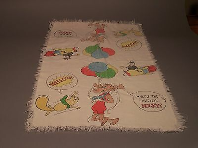 Vintage Rocky and Bullwinkle Towel
