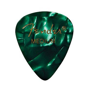 Fender 351 Premium Celluloid Guitar Picks, GREEN MOTO, MEDIUM 144-Pack (1 Gross)