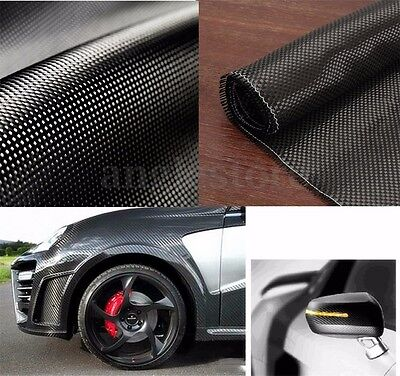 3K 200gsm 150cm Real Plain Weave Carbon Fiber Cloth Fabric Tape Black 8''x60''