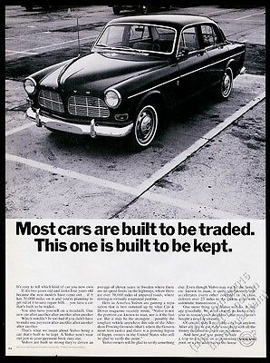 1966 Volvo 122 car photo This One Is Built To Be Kept vintage print ad