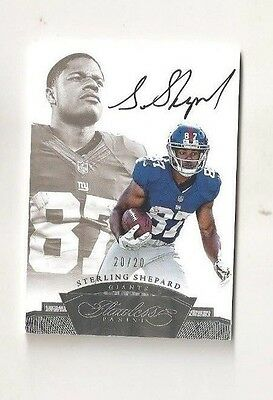 Sterling Shepard 2016 Panini Flawless RC AUTO SILVER 20/20 ON CARD