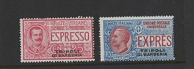 1909 Italian post offices in Africa SG E 182/3 mint set of 2 rare