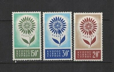 1964 Cyprus Europa Series SG 249/51 mlh set of 3