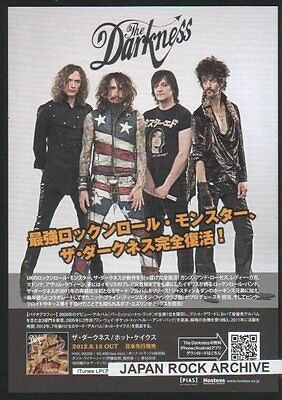 2012 The Darkness Hot Cakes JAPAN album release promo flyer / Japanese RARE