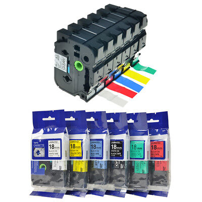 Great Quality Compatible With Brother P-Touch Tz Tze Label Tape 18mm all color