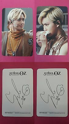 LOT of 2 SUHO Official PHOTOCARD SCHOOL OZ Hologram Musical OST Album EXO 수호