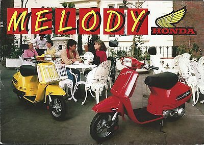 Moped Brochure - Honda - Melody Deluxe - c1984 (DC451)