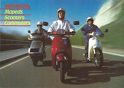 Moped Scooter Brochure - Honda - Product Line Overview - c1985 (DC452)