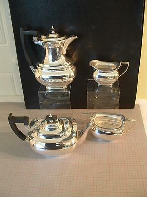 Vintage Silver Plate 4 Piece Tea & Coffee Set - Walker & Hall