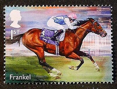 "Racehorse Legend ""Frankel"" illustrated on 2017 stamp - Unmounted mint"