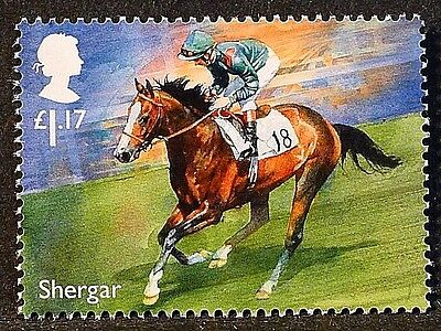 "Racehorse Legend ""Shergar"" illustrated on 2017 stamp - Unmounted mint"