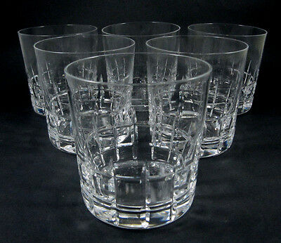6 Vintage Kosta City double old fashioned whisky glasses Vicke Lindstrand