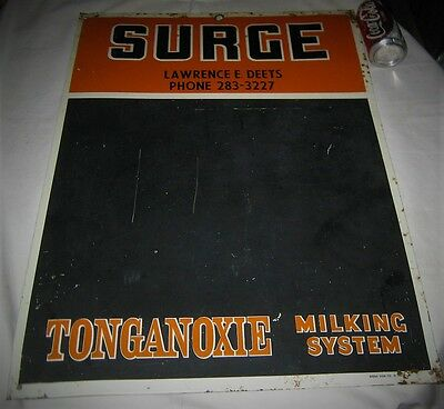 Antique Dairy Cow Milk Farm Bottle Surge Menu Board Art Sign Display Advertising