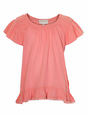 Creamie Leah Top Bluse Mädchen 82412 Sommer Fresh Coral