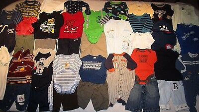 Huge Lot of boys winter/ spring clothes, size  NB, 0-3 and 3 months.