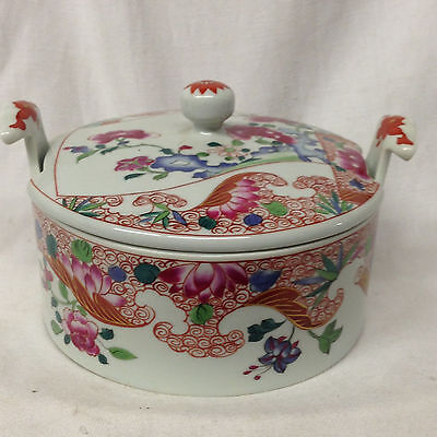 Mottahedeh Nelson Rockefeller Collection Covered Dish Flowers Chinese Export