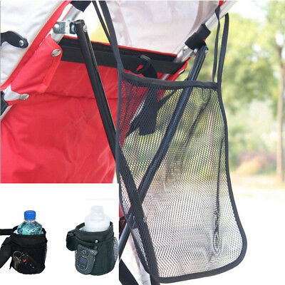 Universal Milk Bottle Cup Holder+Hanging Net for Baby Stroller Bicycle Buggy