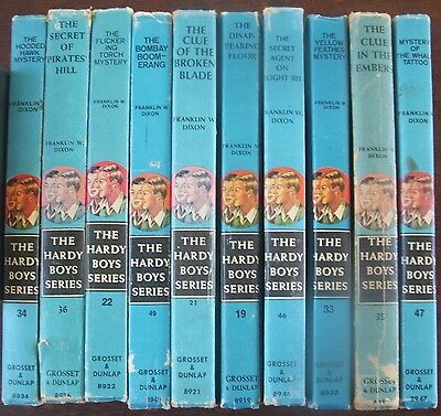 Franklin W. Dixon Bulk set x10 Hardy Boy Vintage Hardcover Books
