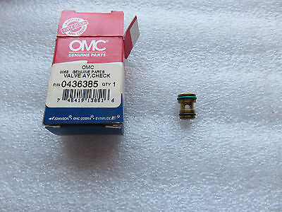 New OMC Johnson Evinrude 0436385 Check Valve Assembly OEM Factory Outboard