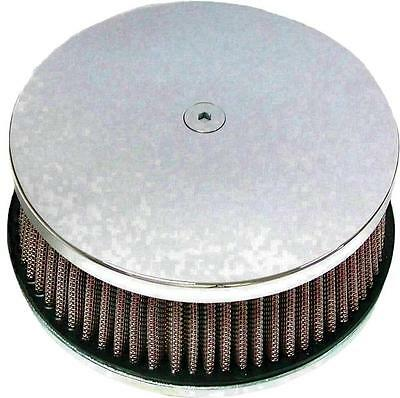 "HardDrive Custom Round Air Cleaner 5-7/8"" Chrome Classic Smooth #120301"