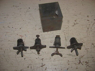 4 Antique Hires Root Beer Barrel Soda Stoppers / Plugs