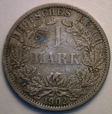1902 A German Silver 1 Mark Coin Very Fine