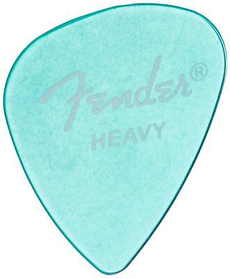 Fender 351 California Clears Guitar Picks, SURF GREEN, HEAVY 144-Pack (1 Gross)