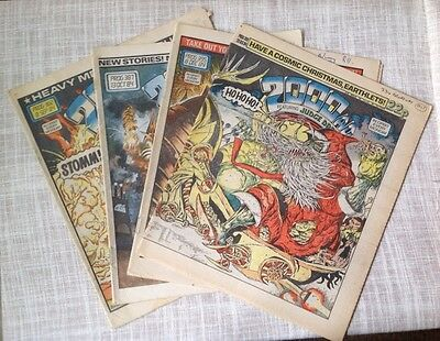 Vintage 2000AD Comics 4 Comics 1984 retro sci fi magazines comic strips collage