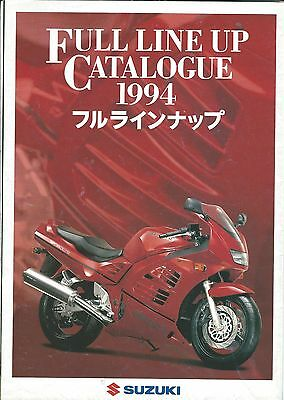 Motorcycle Brochure - Suzuki Product Line 1994 and RF900R Foldout GERMAN (DC461)