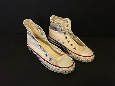 Vintage CONVERSE High Tops All Star Chucks Made in America USA White Size 3
