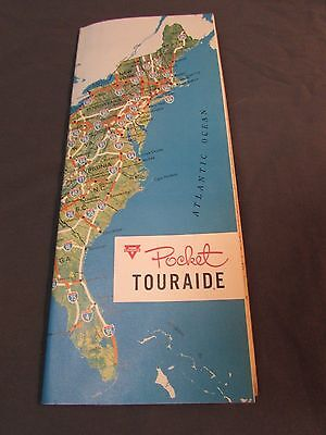 Vintage 1960's CONCO Travel Brochure Atlas USA Map Pocket Touraide Gas Advertise