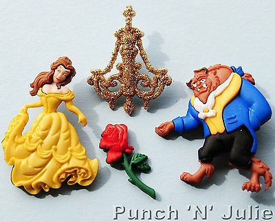 BEAUTY AND THE BEAST - Disney Belle Rose Chandelier Dress It Up Craft Buttons