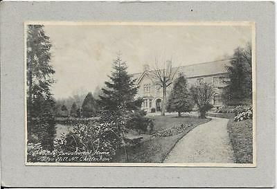 COURTAULD CONVALESCENT HOME Cleeve Hill, nr Cheltenham Gloucester old postcard.
