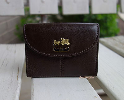 Coach Madison Brown Leather Business Credit Card Holder