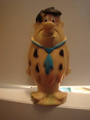 "LARGE Vintage 1979 Squeak Toy Fred Flintstones Figure 9"" Hanna Barbera"