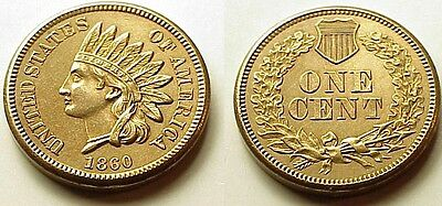 Tasty B/u 1860 Indian Head Cent-Awesome! Look! - Free Shipping!