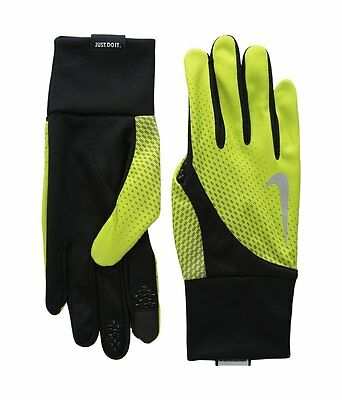 Nike NEW Green Black Men's Size Large L Tailwind Running Athletic Gloves #289