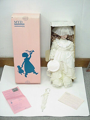 """Crystal 18"""" Collectable Porcelain Doll By Marian Yu Design (MYD) # 1032 Of 3000"""